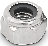 Гайка шестигранная М6 самоконтрящаяся низкая, с нейлоновым вкладышем DIN 985, сталь А2, А4, фото 2