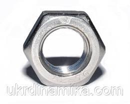 Гайка шестигранна М8 самоконтрящаяся низька, з нейлоновим вкладишем DIN 985, сталь А2, А4, фото 2