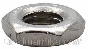 Гайка шестигранная нержавеющая низкая М22 DIN 439, сталь А2, фото 2