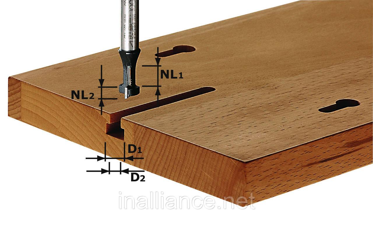 Фреза для выборки Т-образных пазов HW S8 D10,5/NL13 хвостовик 8 мм Festool 491035