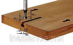 Фреза для выборки Т-образных пазов HW S8 D10,5/NL13 хвостовик 8 мм Festool491035