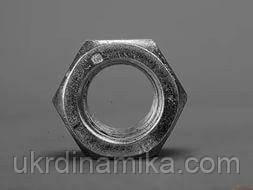 Гайка шестигранная нержавеющая низкая М27 DIN 439, сталь А2, фото 2