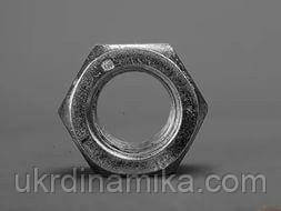 Гайка шестигранная нержавеющая низкая М42 DIN 439, сталь А2