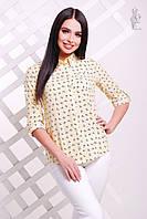Женская приталенная блузка Слада с длинным рукавом, фото 1