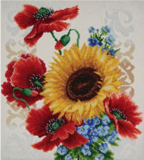 """Схема для вышивки бисером """"Полевые цветы"""" (Т-0793)"""