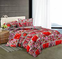 Двуспальный комплект постельного белья евро 200*220 сатин (9461) TM КРИСПОЛ Украина