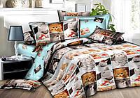 Двуспальный комплект постельного белья евро 200*220 сатин (9463) TM КРИСПОЛ Украина