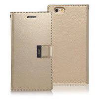 Книжка Goospery Rich Diary Wallet Case Meizu M6 note Gold