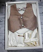 """Подарочный набор для мальчика на крещение, на праздник """"Джентельмен"""" Турция от 1 до 6 мес., фото 1"""