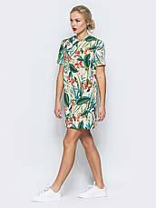 Лаконічне плаття футболка прямого крою з прінтом , фото 2