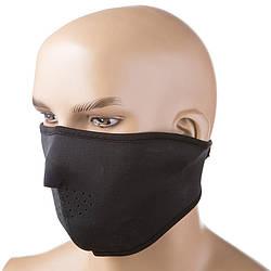 Черная балаклава для лица