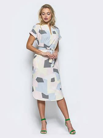 Платье женское прямого кроя из легкого софта, фото 2