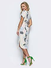 Платье женское прямого кроя из легкого софта, фото 3