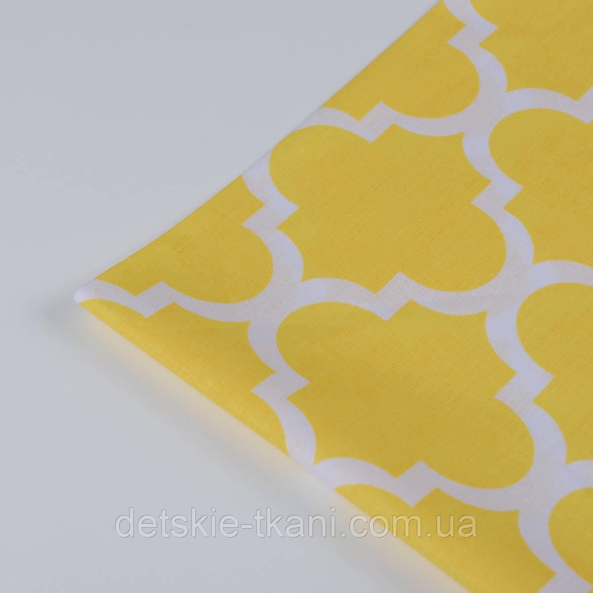 """Лоскут ткани №146 """"Марокко"""" жёлтого цвета"""