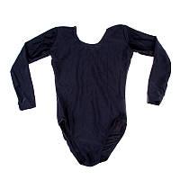 Черный гимнастический купальник размер M,  длинный рукав