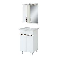 Комплект мебели для ванной комнаты Альвеус Т-50-02К-З-50-01 с зеркалом ПИК