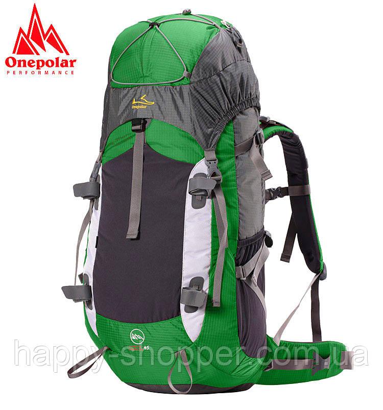 Туристический рюкзак 45 л Onepolar 1702 Зеленый