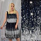 Летнее женское платье большого размера: 48,50,52,54,56,58, фото 4