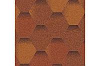 Мягкая кровля. Битумная черепица Aquaizol Мозаика Теплый воск (антик + коричневый + красный)