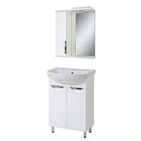 Комплект мебели для ванной комнаты Альвеус Т-50-02А-З-50-01 с зеркалом ПИК