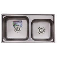 Кухонная мойка двойная TRION 7742 гладкая 0.8/210 mm