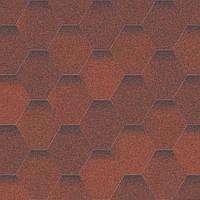 Мягкая кровля. Битумная черепица Aquaizol. Акваизол Мозаика Огненная лава (красный + коричневый)