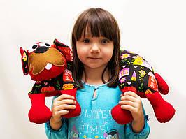 Подушка игрушка Vikamade Собака бублик .