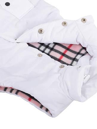 Детская жилетка на флисе для девочки, белая, р.110,116, фото 2