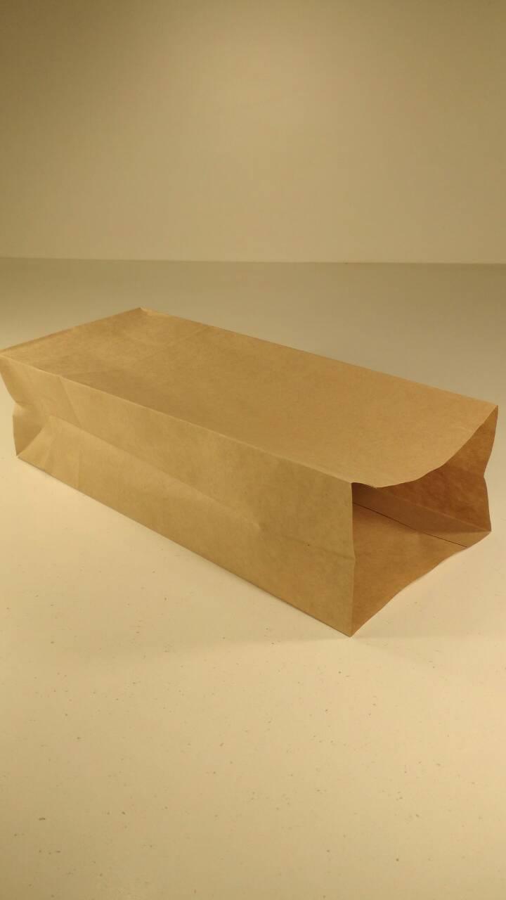 Пакет с дном бумажный 32*13*8,5  коричневый№11 (25 шт)