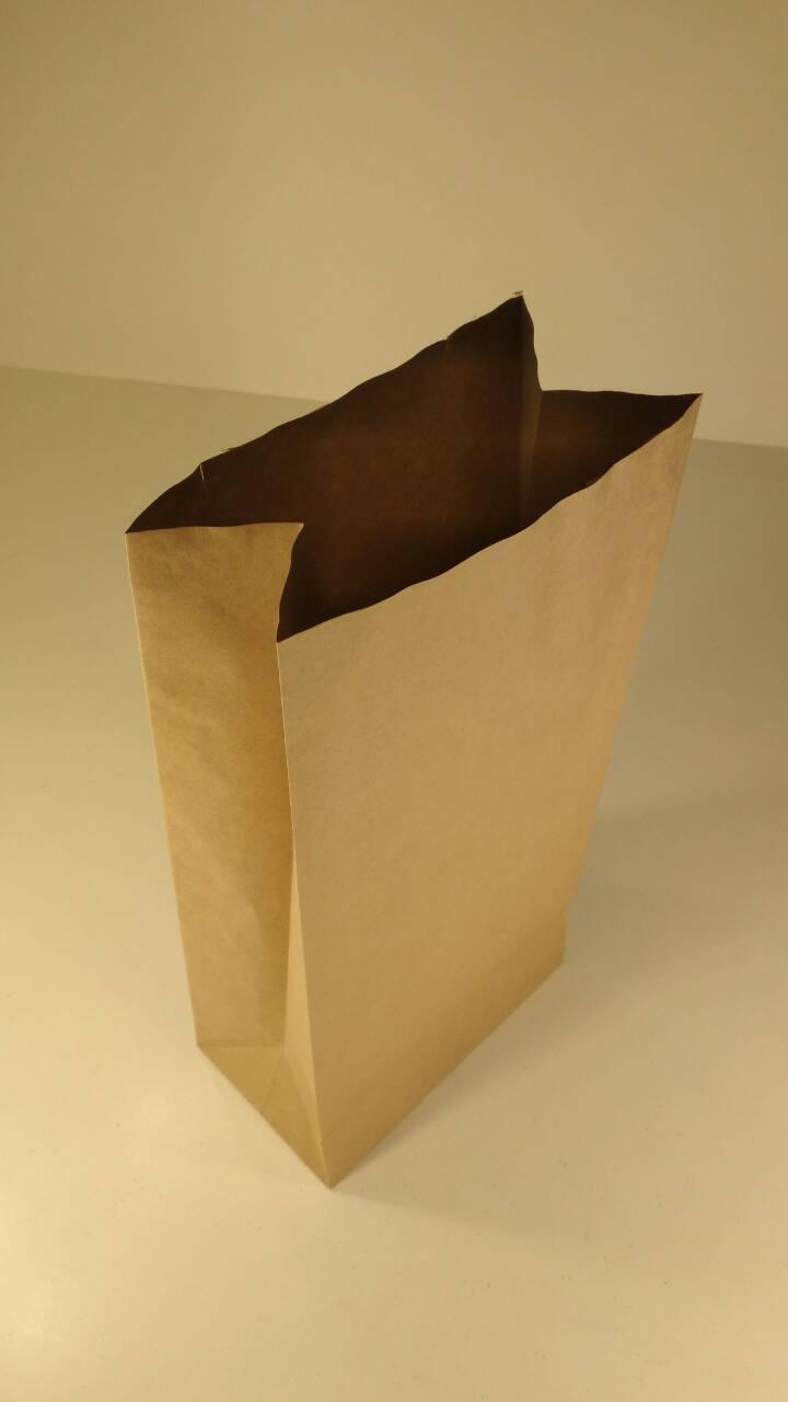 Пакет с дном бумажный 41*19*11,5 (двухслойный) коричневый№17 (25 шт)