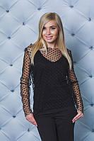 Блуза женская сеточка черная