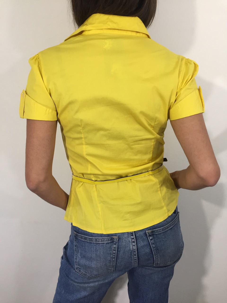 cadd2e63226 Рубашка женская А 84 желтая