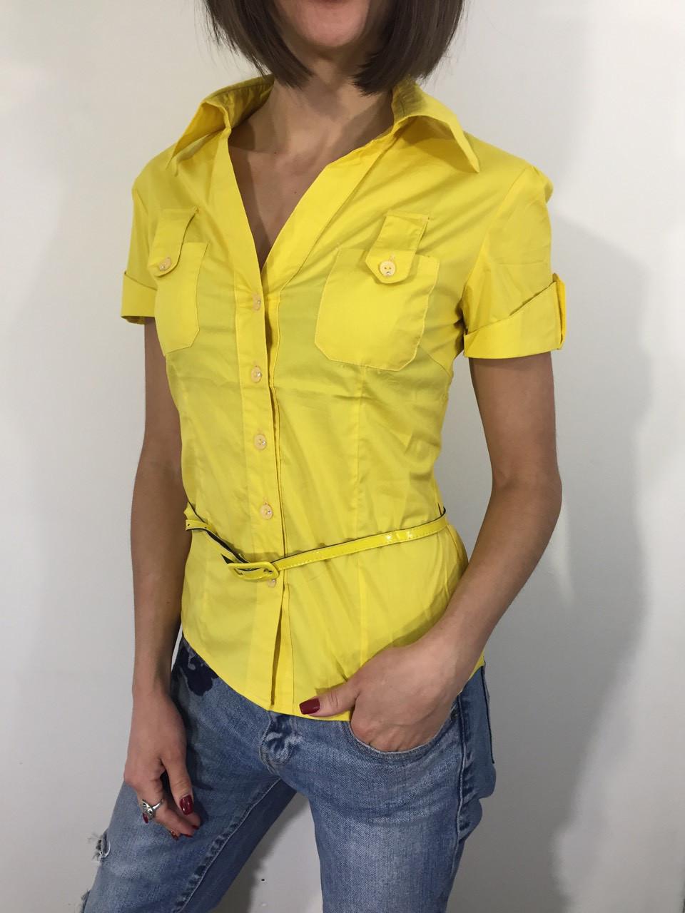 00b805f9388 Рубашка женская А 84 желтая - ОПТ И РОЗНИЦА ПО НИЗКИМ ЦЕНАМ в Павлограде
