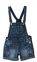 Стильный джинсовый полукомбинезон для девочки F&D , Венгрия