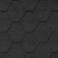 Мягкая кровля. Битумная черепица Aquaizol. Акваизол Мозаика Гавайский песок (чёрный + темно-серый)