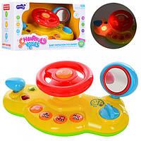 Автотренажер, руль детский обучающий 887, 24см, музыка, звук, свет, на бат, в кор-ке, 26.5-15,5-11см.
