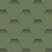 Мягкая кровля. Битумная черепица Aquaizol. Акваизол Мозаика Альпийский луг (зелёный + чёрная тень)