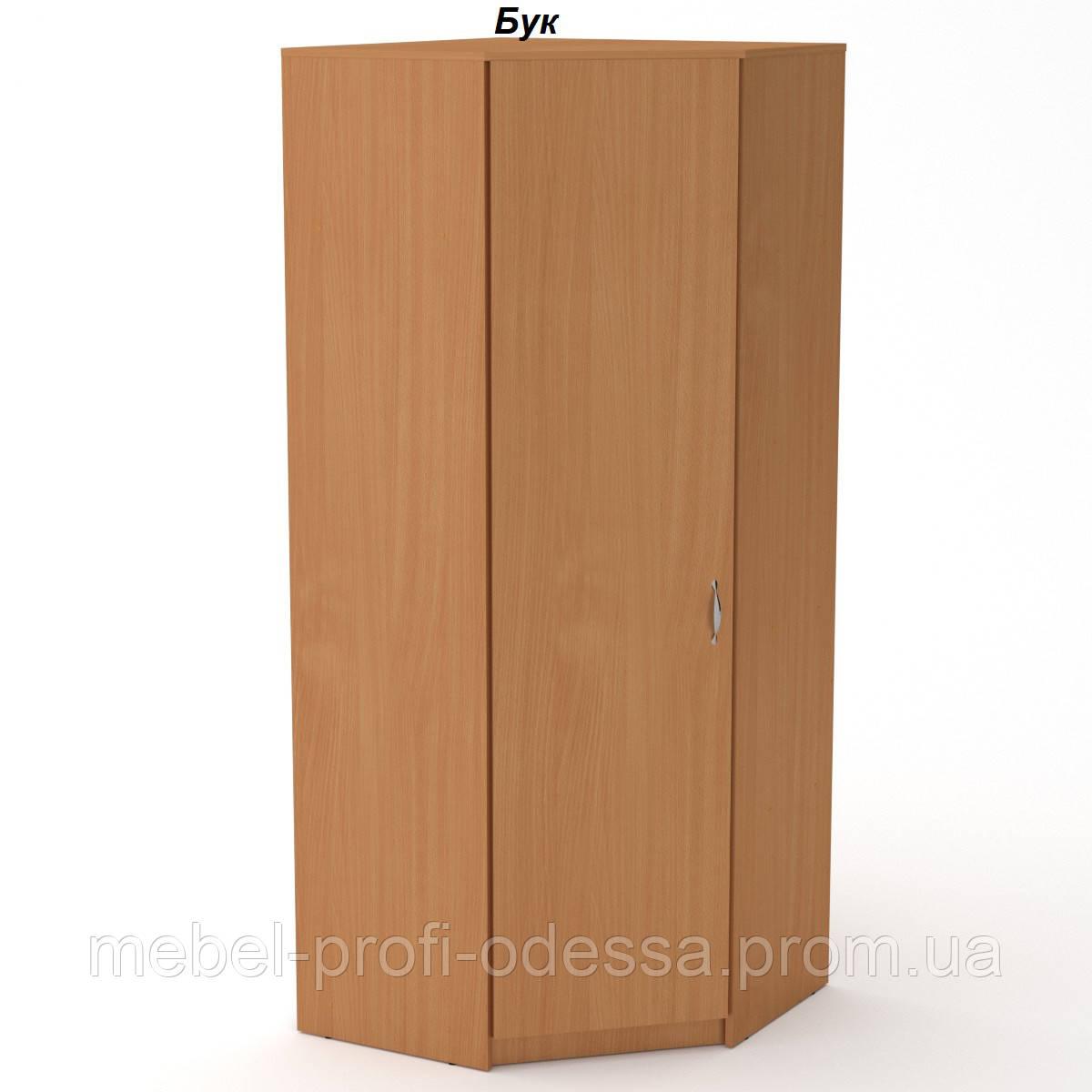 Угловой шкаф 3 У Компанит полочный и платяной отдел