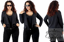 Женский пиджак батал 52 размер