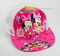 """Стильная детская кепка snapback """"Минни-Маус 3D"""" Glam сетка белая."""