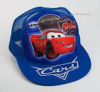 """Стильная детская кепка snapback """"Молния Маквин 3D"""" цвет синий"""