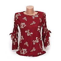 Блуза женская с цветочным рисунком p.44-46 B46-1
