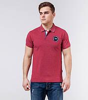 Lacoste | Рубашка поло мужская | Копия 71031 бордовый меланж