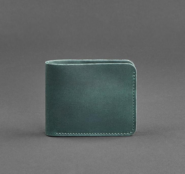 Купюрник кожаный карты зеленый (ручная работа)