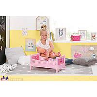 Кроватка для куклы 43 см с постельным набором Baby Born Zapf 824399