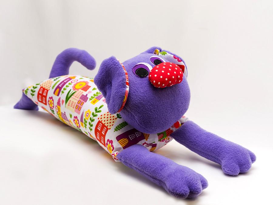 Собака Vikamade подушка валик 50/90 см