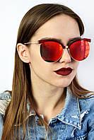 Cолнцезащитные женские очки реплика Dior CD7015 красные