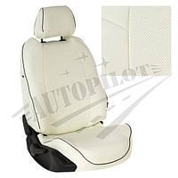 Чехлы на сиденья Skoda Yeti (пасс. спинка трансформер) с 13г. (Экокожа Белый   Белый)