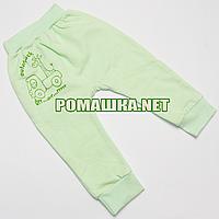 Штанишки на широкой резинке с начесом р. 74 ткань ФУТЕР 100% хлопок ТМ Авекс 3179 Зеленый А