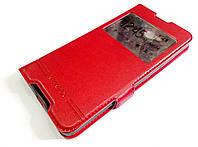 Чехол книжка с окошками momax для Microsoft Lumia 650 красный